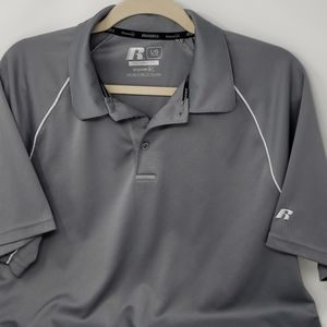 Russell Training Fit Large Polo Gray